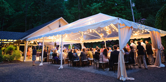 Outdoor Wedding Reception Venues Catered Events At Mountain Estate